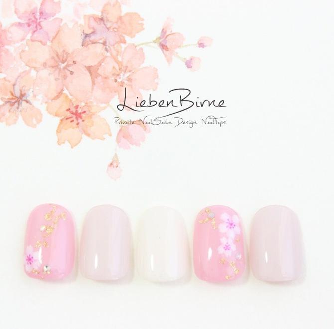 和桜のネイル