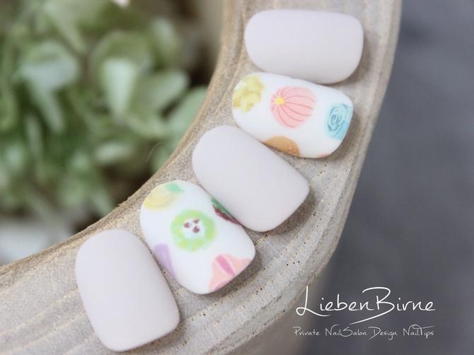 和菓子のネイル